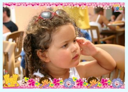 Un poster de votre enfant avec Dora l'exploratrice ?