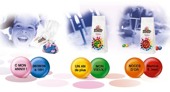 cadeau personnalisé pour accrocs de M&M's : My M&M's