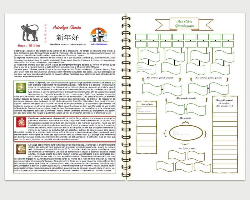 Complétez votre arbre généalogique (à gauche votre thème astral)